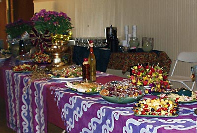 The dessert table created byTruffle Shop in Nevada City, CA. catered an entertainment event in Grass Valley, CA.
