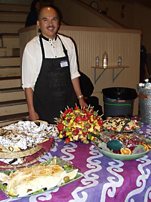 Rudy Udarbe, one of the dessert catering chefs for the Truffle Shop. The Truffle Shop creates delicious gourmet dessert catering for public events.