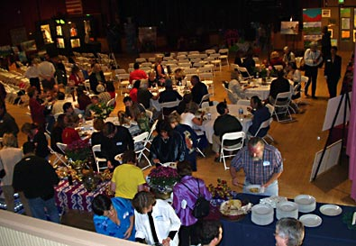 An overview of an entertainment event in Grass Valley, CA.catered by the Truffle Shop in Nevada City, CA.