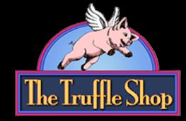The Truffle Shop logo. Gourmet chocolate truffles and desserts