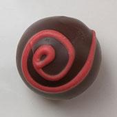 The Truffle Shop Fireball Semi-Sweet chocolate truffle
