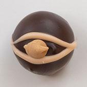 The Truffle Shop Hazelnut/Peanut Butter milk chocolate truffle