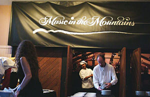 Custom gourmet Chocolate Dessert creation catering by the Truffle Shop in Nevada City, CA for a Music in the Mountains event