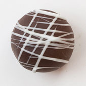 The Truffle Shop Van Gogh Semi-Sweet chocolate truffle